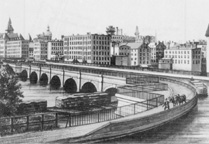 a typical aqueduct on the Erie Canal