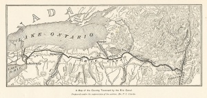 early map of the canal by Thomas Curtis Clark, 1896