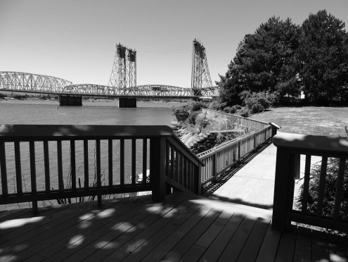 along the walkway on the shores of the mighty columbia river