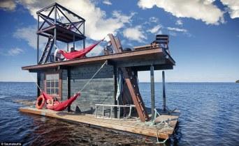 floating sauna