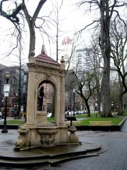 the joseph shemanski fountain was given to the city of portland, oregon in 1926. this is a favorite visit for me whenever i am in the rose city.
