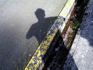 shadowed self portait. wordless