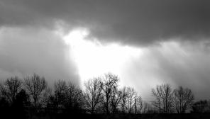 sun peeks out long enough to remind it is still there. moments later the break through was corralled