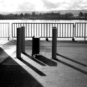 shadows along the columbia river